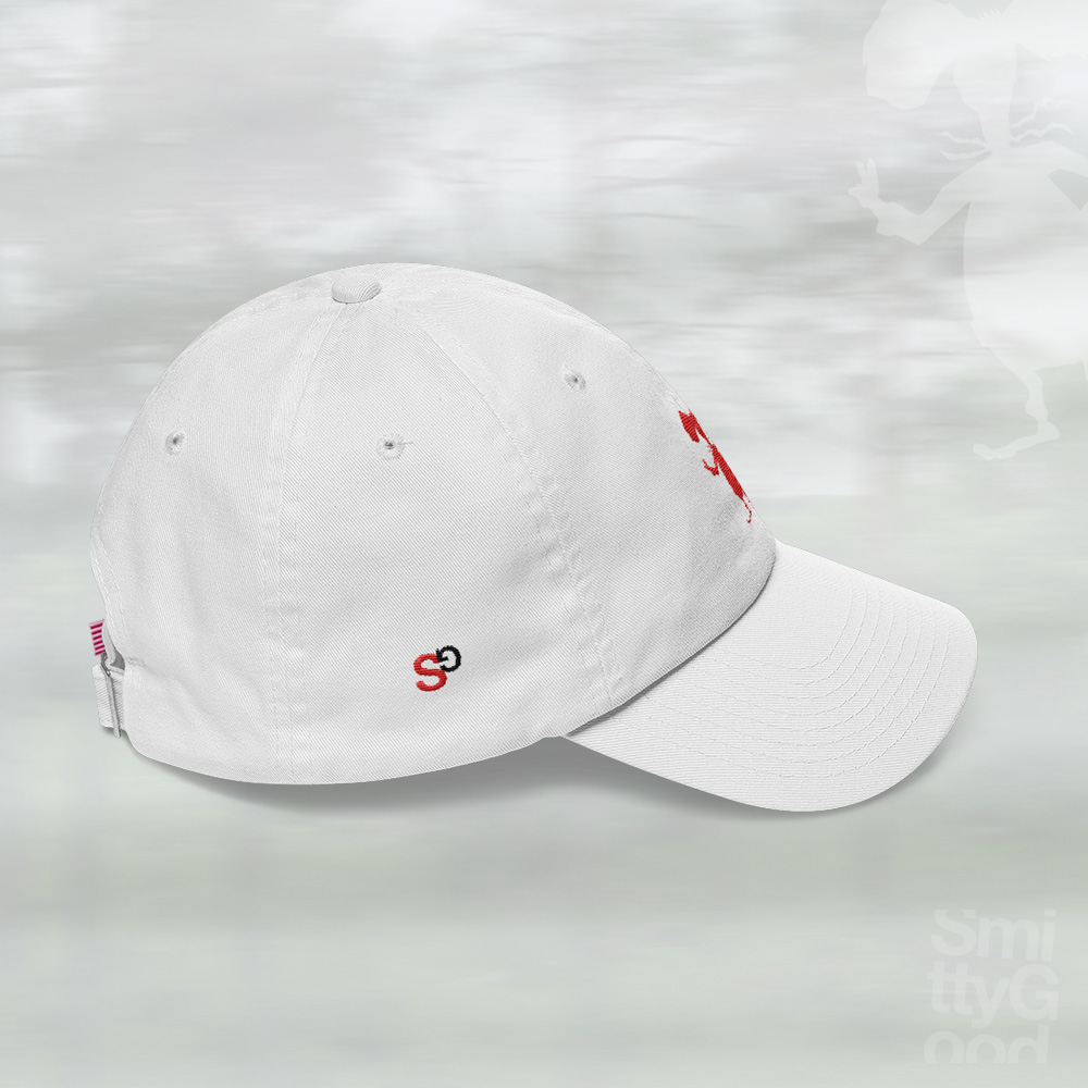 SmittyGoods-Rat-Dad-Hat-Red-Threads-White-side - SmittyGoods 7ae69e43d0c